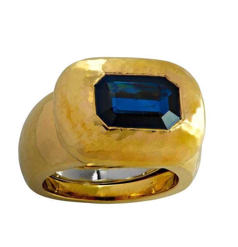 David Webb GIA Certified 3.61 Carat Sapphire Ring For Sale 1