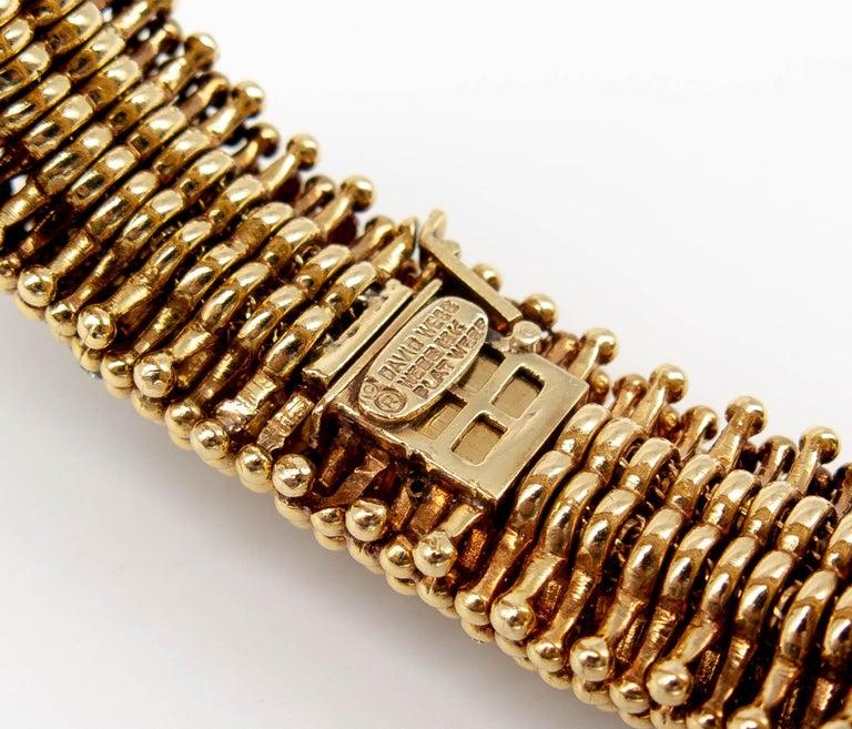 Women's or Men's David Webb Gold Diamond Bracelet For Sale