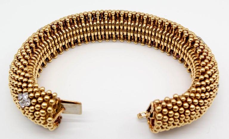 David Webb Gold Diamond Bracelet For Sale 1