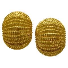 David Webb Gold Earrings