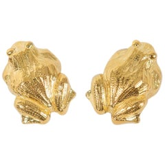 18k Gold Clip-on Earrings