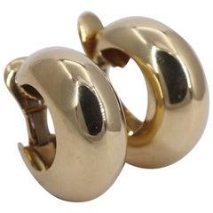 David Webb Gold Hoop Earrings