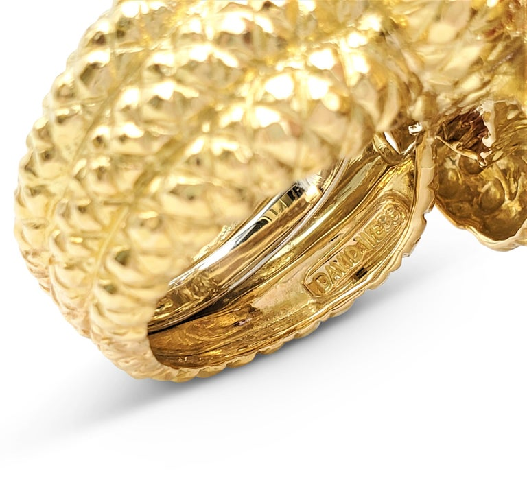David Webb Gold Sapphire and Diamond Double Serpent Ring For Sale 1