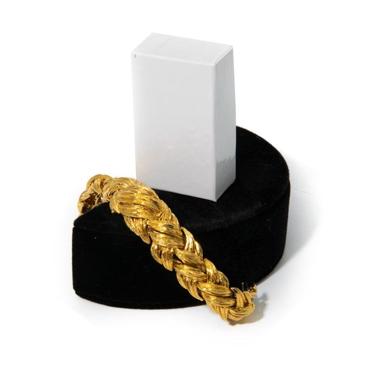Women's David Webb Gold Watch Bracelet For Sale