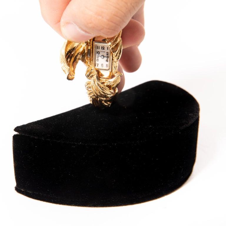 David Webb Gold Watch Bracelet For Sale 2