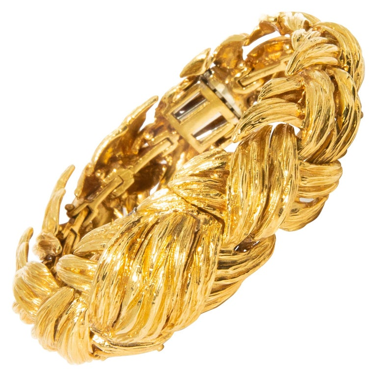 David Webb Gold Watch Bracelet For Sale