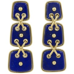 David Webb Lapis Lazuli Earrings