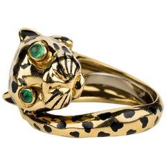 David Webb Leopard Ring