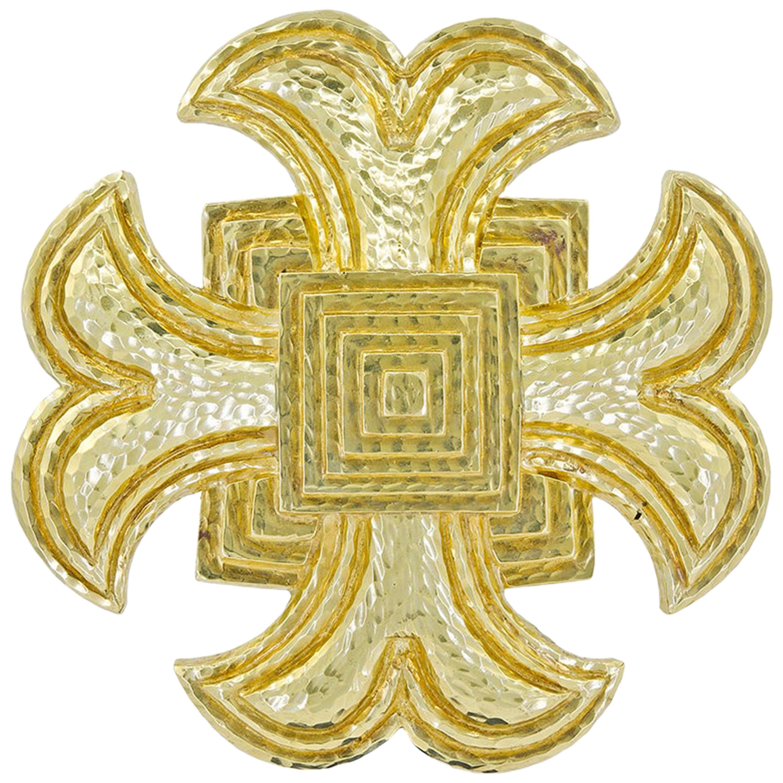 David Webb Maltese Cross Brooch Pendant