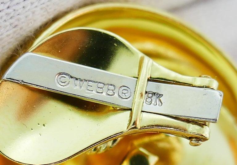 David Webb Mobe Pearl Yellow Gold Earrings For Sale 2