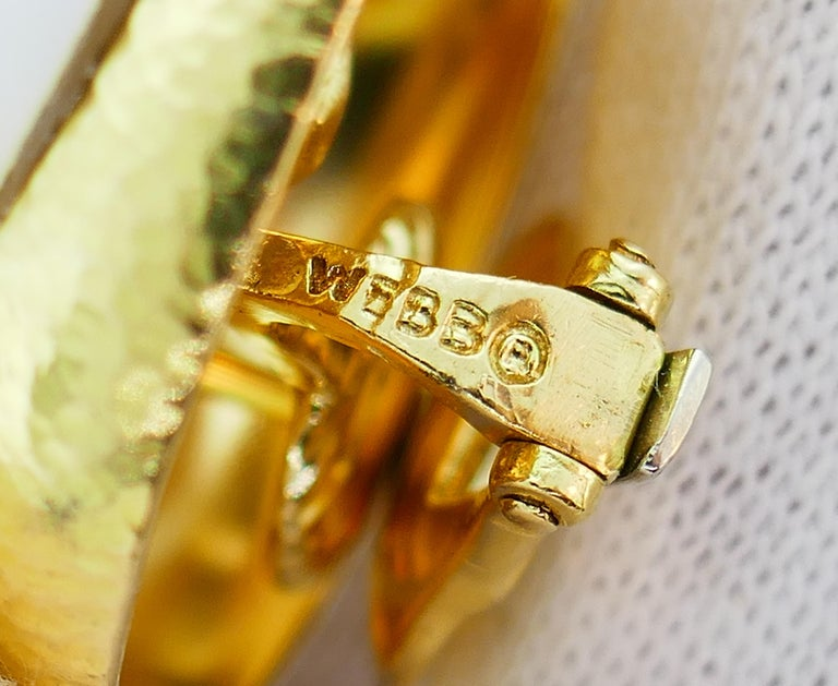 David Webb Mobe Pearl Yellow Gold Earrings For Sale 3