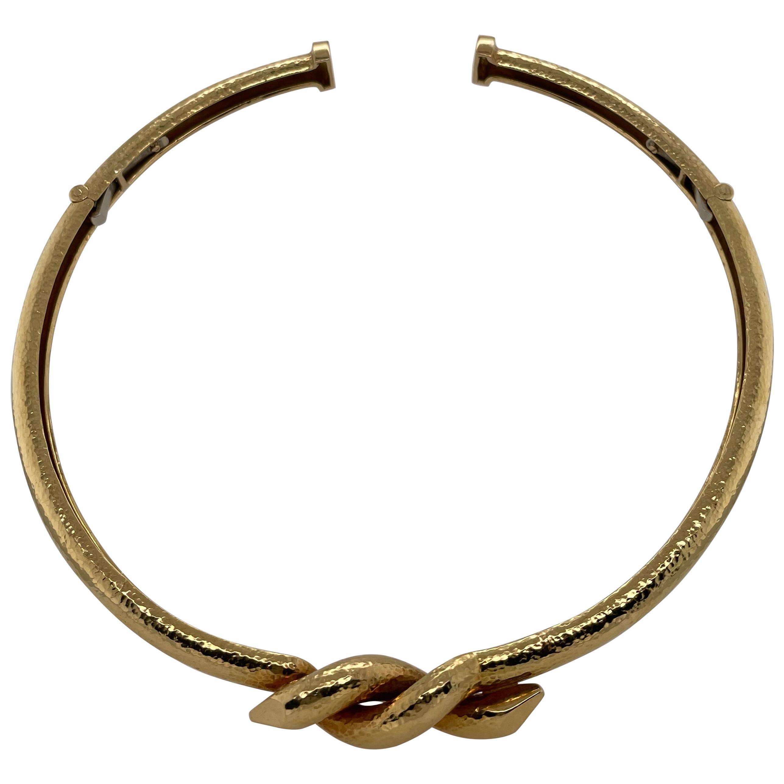 David Webb Nail Choker Necklace