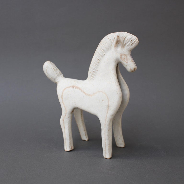 Set of Two Ceramic Horses by Bruno Gambone, Italy, circa 1970s For Sale 3