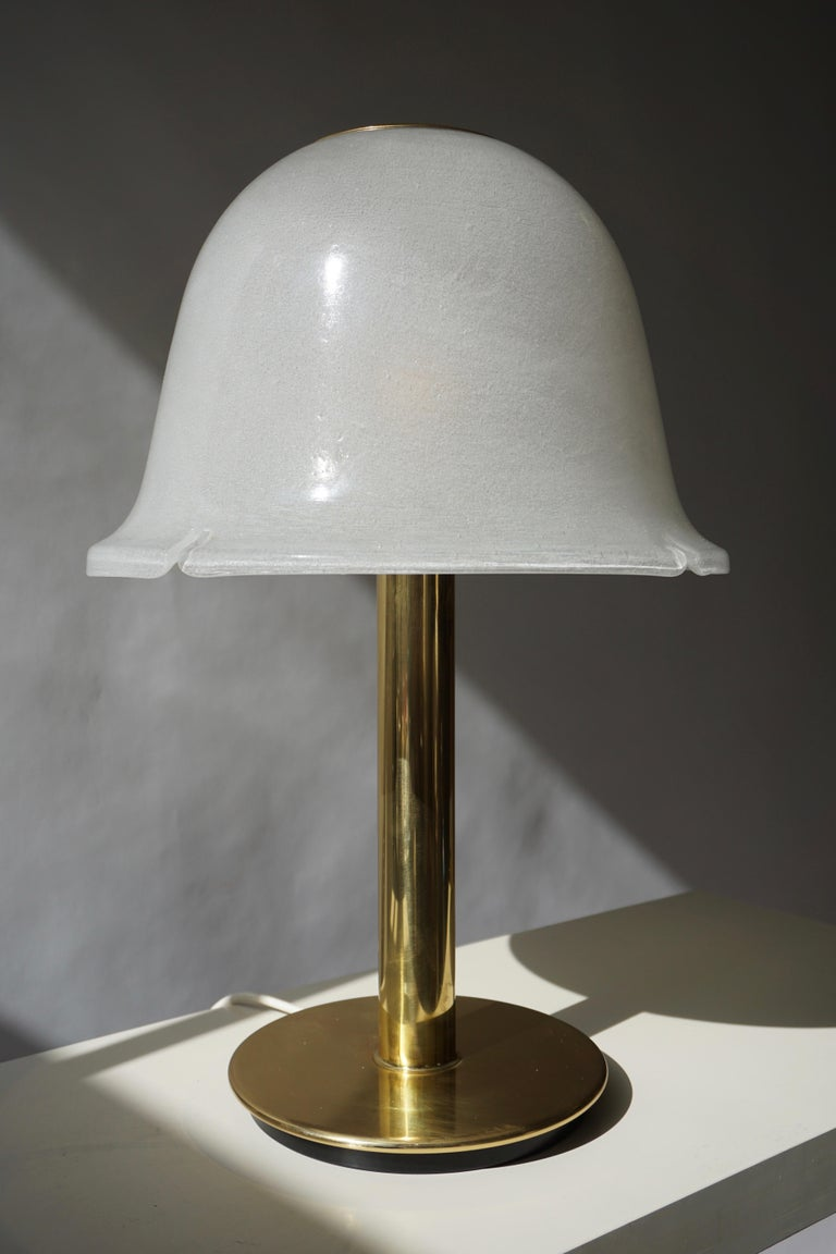 Table Lamp in Murano Glass and Brass For Sale 5