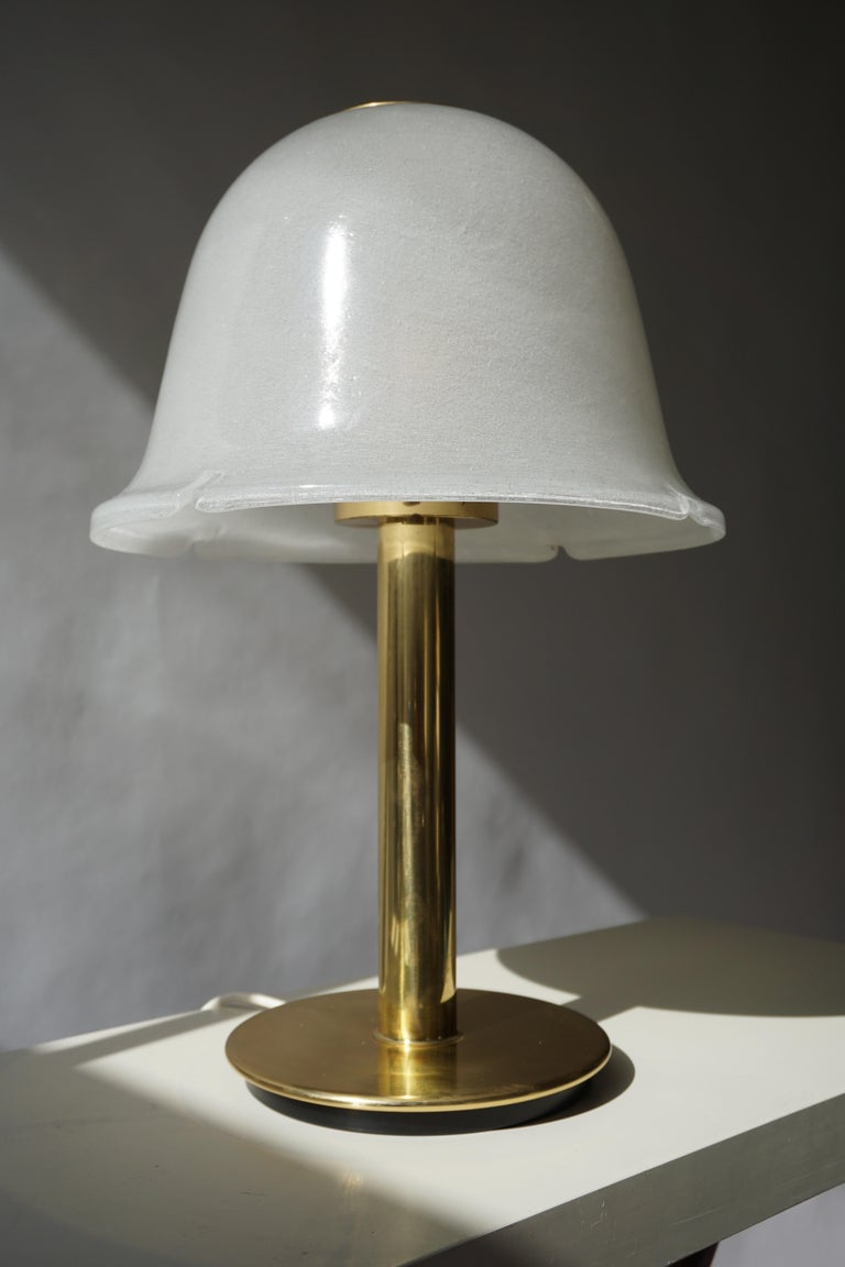 Table Lamp in Murano Glass and Brass For Sale 6