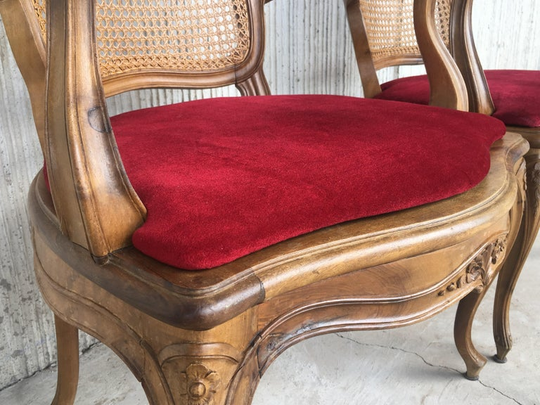 18th Louis XV Cane Back and Seat Fauteuil Armchair. For Sale 7