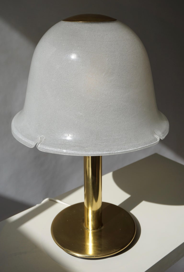 Table Lamp in Murano Glass and Brass For Sale 7