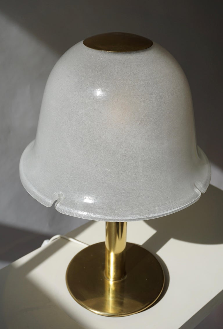 Table Lamp in Murano Glass and Brass For Sale 8