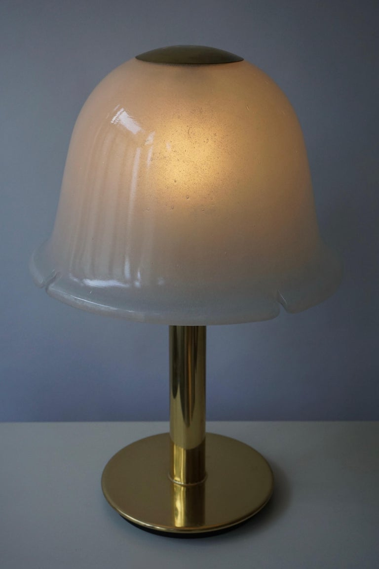 Table Lamp in Murano Glass and Brass For Sale 9