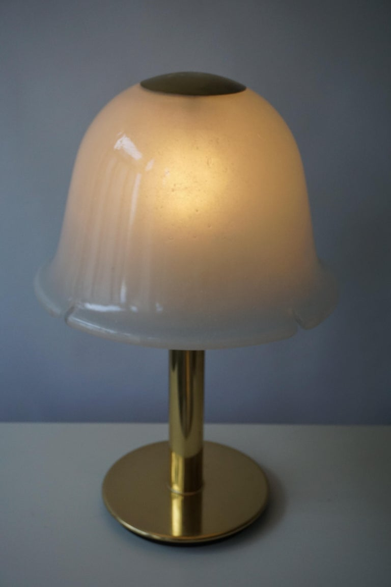 Table Lamp in Murano Glass and Brass For Sale 10