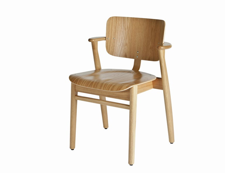 Ilmari Tapiovaara Domus Chair in Natural Oak and Leather for Artek 12