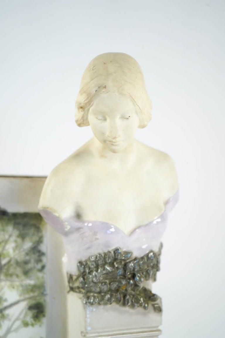 Art Nouveau vase, Austrian, 1910-1920.  Size H: 44cm, L: 20cm, P: 11cm
