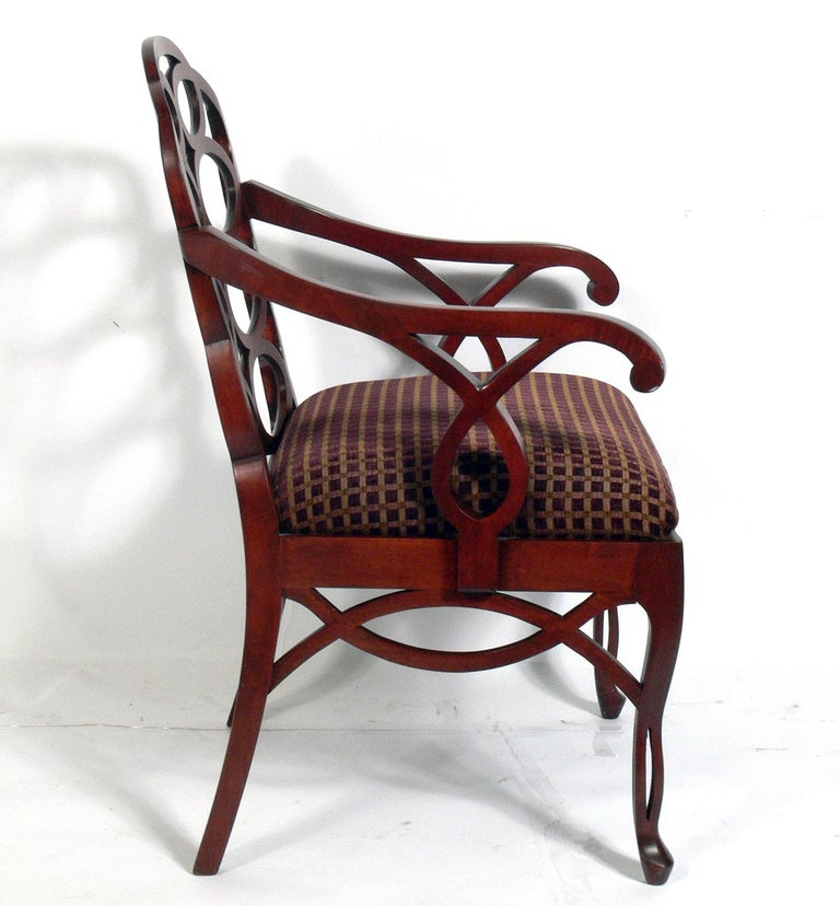 Hollywood Regency Frances Elkins Loop Chair For Sale