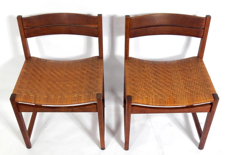 Mid-Century Modern Set of Four Danish Modern Dining Chairs by Hvidt & Mølgaard For Sale