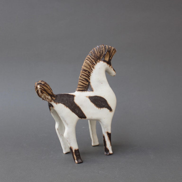 Italian Set of Two Ceramic Horses by Bruno Gambone, Italy, circa 1970s For Sale
