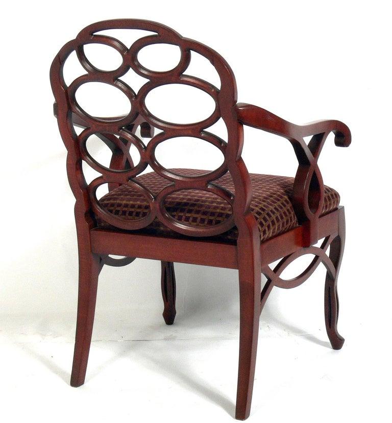 American Frances Elkins Loop Chair For Sale
