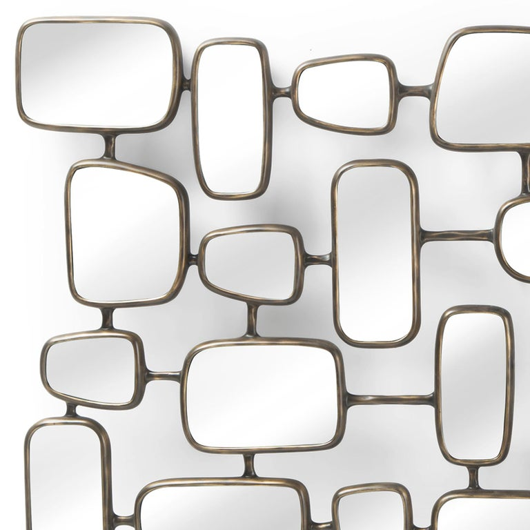 Linked Panels Mirror In New Condition For Sale In Paris, FR