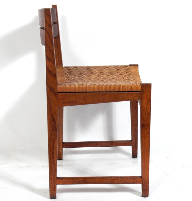 Mid-20th Century Set of Four Danish Modern Dining Chairs by Hvidt & Mølgaard For Sale