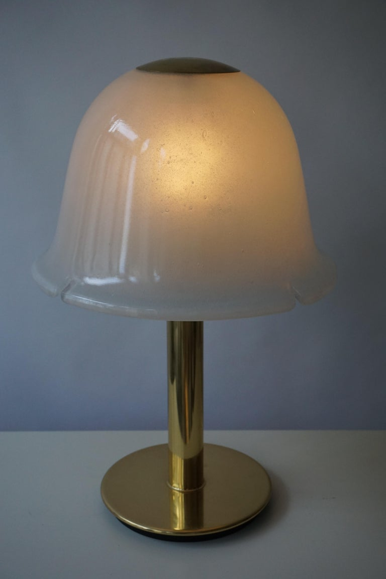 Table Lamp in Murano Glass and Brass In Good Condition For Sale In Antwerp, BE