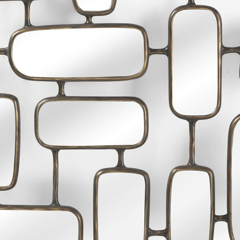 Contemporary Linked Panels Mirror For Sale