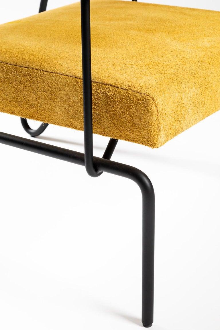 Leather Minimalist Brazilian armchair