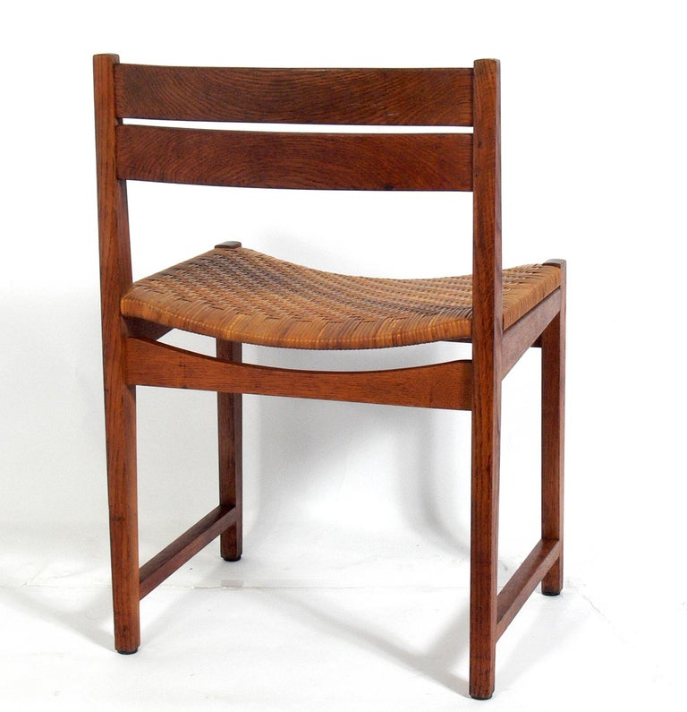Cane Set of Four Danish Modern Dining Chairs by Hvidt & Mølgaard For Sale