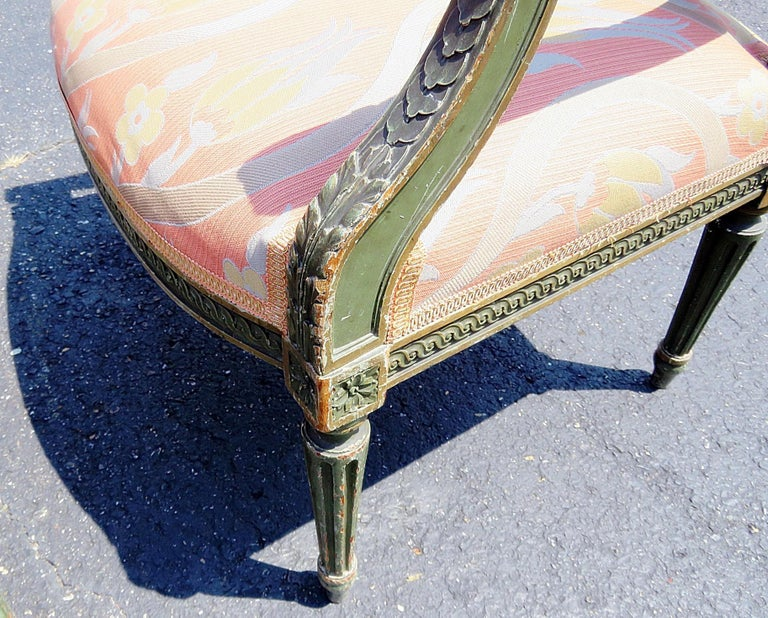 Upholstery Pair of Louis XVI Style Armchairs