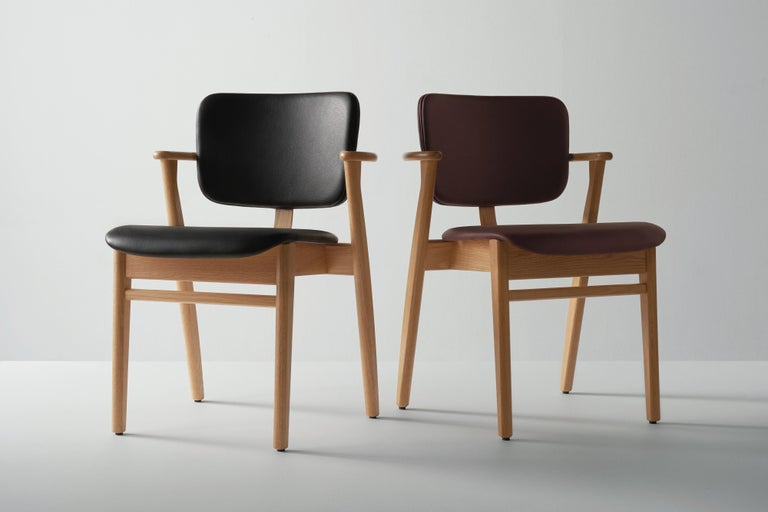 Ilmari Tapiovaara Domus Chair in Natural Oak and Leather for Artek 2