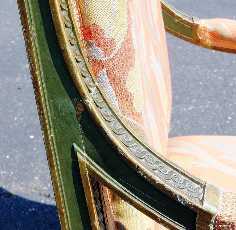 Pair of Louis XVI Style Armchairs 1