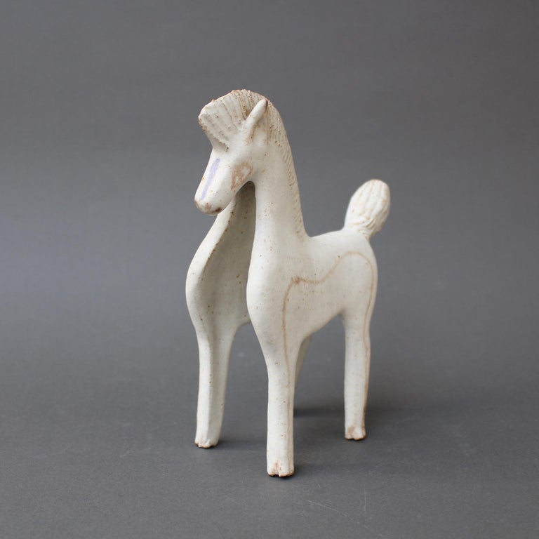 Set of Two Ceramic Horses by Bruno Gambone, Italy, circa 1970s For Sale 1