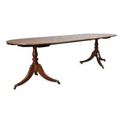 Extending Dining Table, Regency Revival, English, Mahogany, Seats Ten