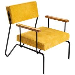 "Minimalist Brazilian armchair ""Sandra"" by Samuel Lamas"