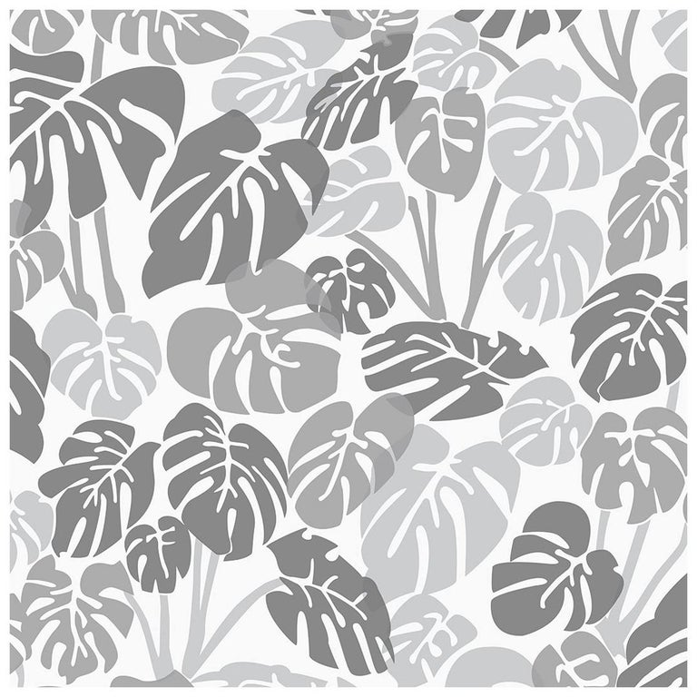 Deliciosa Designer Wallpaper In Smoke Cool Greys And Charcoal On
