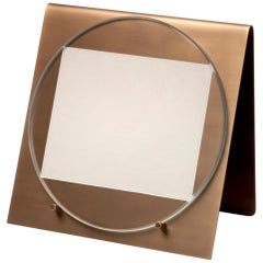 Salvatori Balancing Photo Frame in Brass by Studiocharlie