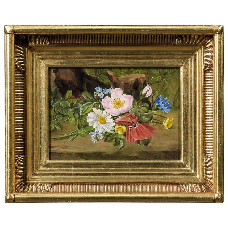 Painting Flowers by Carl Carlsen For Sale