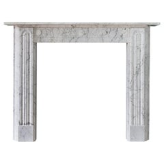 19th Century Carrara Marble Fireplace