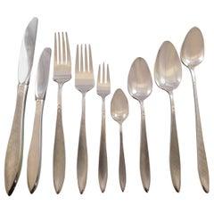 Gossamer by Gorham Sterling Silver Flatware Set for 12 Service 121 Pieces Matte