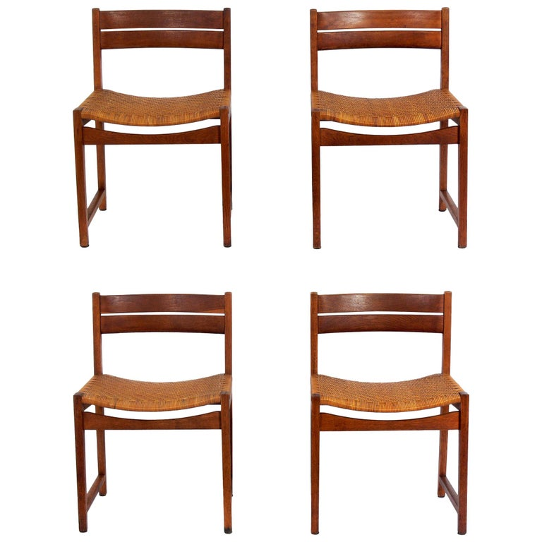 Set of Four Danish Modern Dining Chairs by Hvidt & Mølgaard For Sale