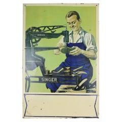 Shoemakers Sänger Maschinen Vintage Werbeschild