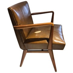 Jens Risom Walnut Side Chair